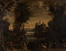 French School, 17th/18th c. Landscape, oil