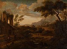 Attr. to Gaspard Dughet. Landscape, oil on canvas