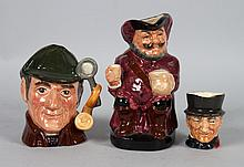 Three Royal Doulton toby and character jugs