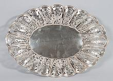 Chinese silver oval bread basket