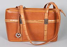 Lady's Brighton leather satchel handbag