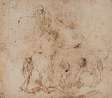 Possible attr. to Rembrandt van Rijn, pen and ink