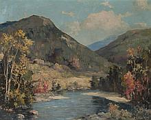 Charles E. Buckler. Landscape, oil on canvas