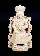 Chinese carved ivory seated mandarin