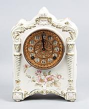 Ansonia ceramic mantel clock