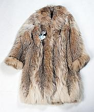 Lynx full length fur coat