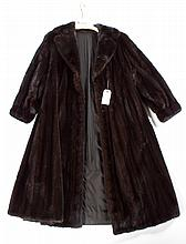 Black full length mink coat