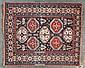 Fine antique Konagend rug, 4 x 4.10