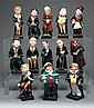 13 Royal Doulton china figures from Charles Dickens' stories
