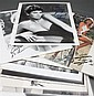 [Autographs: Sex Symbols] Group of about 20 signed photos and cards including Raquel Welch, Angie Dickinson, Farrah Fawcett,