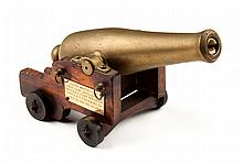 Confederate veteran's memento: Brass desk cannon