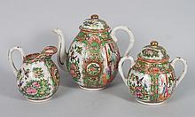 Chinese Export porcelain three-piece tea set