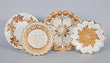 Four Meissen porcelain cabinet plates
