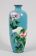 Japanese Ginbari cloisonne enamel vase