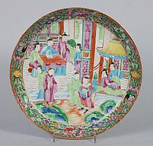 Chinese Export Rose Mandarin porcelain plate
