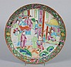 Chinese Export Rose Mandarin porcelain plate