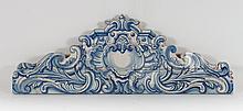Dutch blue and white delftware plaque