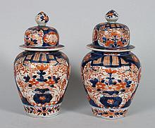 Two Japanese Imari porcelain jars