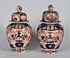 Two Japanese Imari porcelain jars