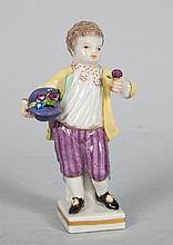 Meissen porcelain figure of a boy