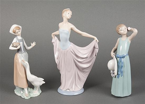 Three Lladro porcelain figures