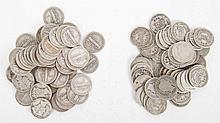 [US] 100 Silver Dimes, 1893-1945