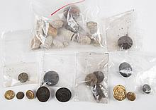 Bag of Civil War bullets and buttons