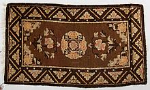 Antique Chinese scatter rug, approx. 2.1 x 3.8