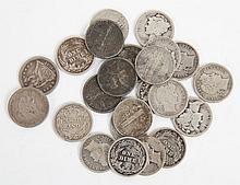 [US] Mixed Silver Dimes, 1857-1939