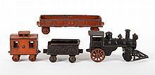Four-piece cast-iron floor train