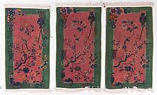Three antique Nichols Chinese scatter rugs
