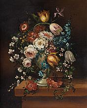 Jeannine Albert, Still Life with Flowers, oil