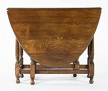 William & Mary style oak gate-leg table