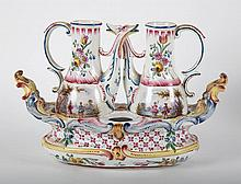 French faience condiment boat