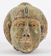 Ancient Egyptian manner terracotta head