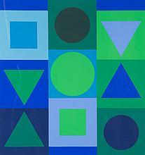 Victor Vasarely, Saphir-Positif, color serigraph