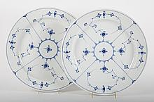 Pair Royal Copenhagen porcelain chargers