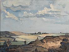Paul Jardine. Extensive Landscape, oil on board