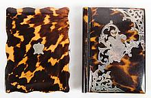 Two Victorian silver inlaid pocket notebooks