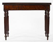 American Classical mahogany games table