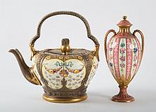 Doulton Burslem teapot & Royal Crown Derby urn