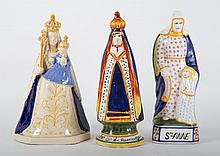 Three French faience religious figures