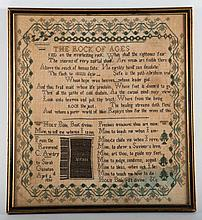 English needlework sampler