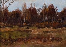 Bernard Corey. Meadow Landscape, oil on board