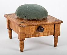 American tiger maple worktable/pin cushion