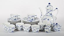 Royal Copenhagen porcelain chocolate/dessert set