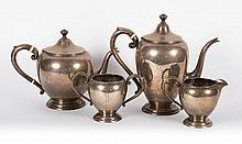 American sterling silver 4-piece coffee/tea set