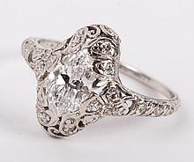 A 0.91 ct. Oval Diamond Ring