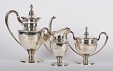 Stieff sterling silver 3-piece coffee set