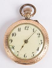 A Blue Enamel Pocket Watch
